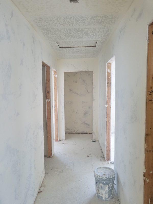 Drywall hallway in new house