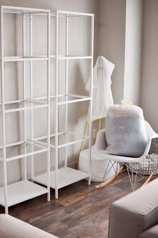 Furniture items covered in plastic bags are some tips for an organized move.