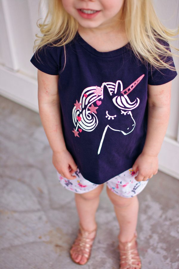Some of the cute girl clothes that came in our Stitch Fix Kids!