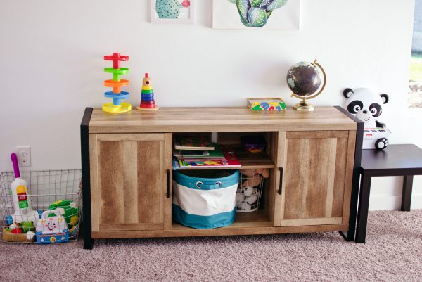 Colorful kids playroom furniture.