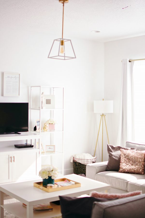Affordably styled living room furniture and decor.