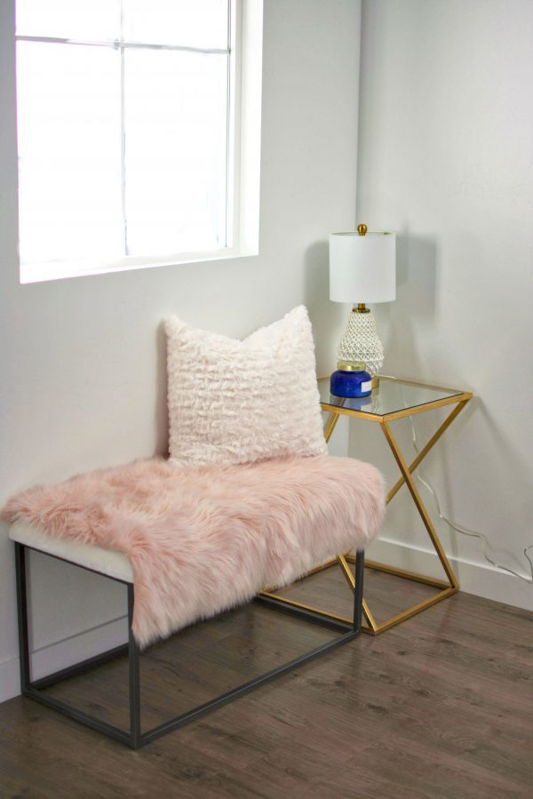 Pink and gold home decor on a budget