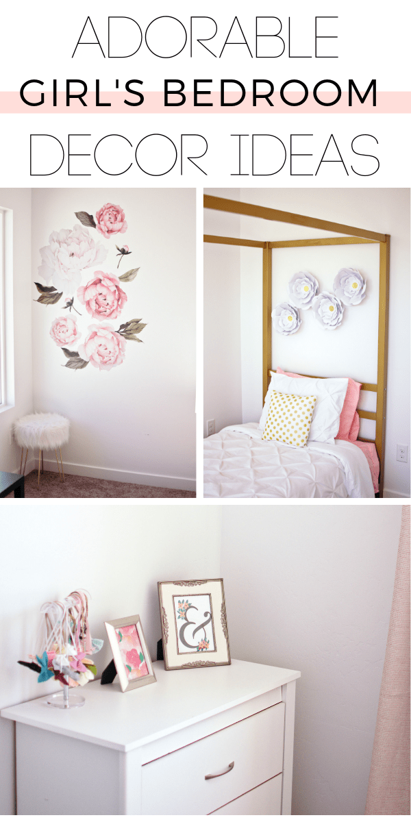 These little girls bedroom ideas are perfect for a small room.