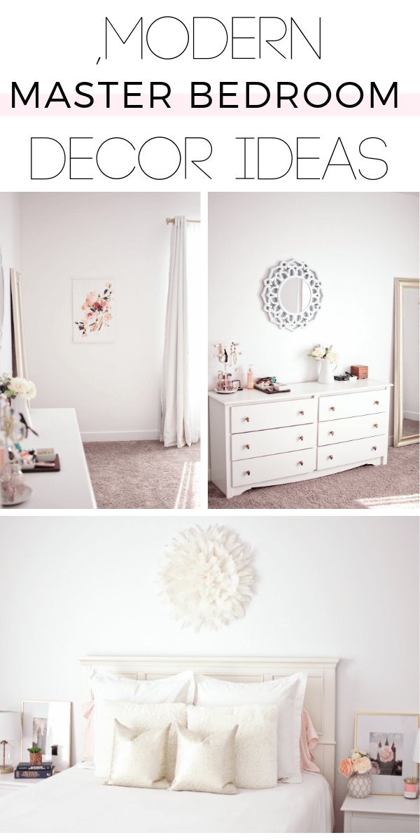 These romantic master bedroom ideas are perfect for someone on a budget!