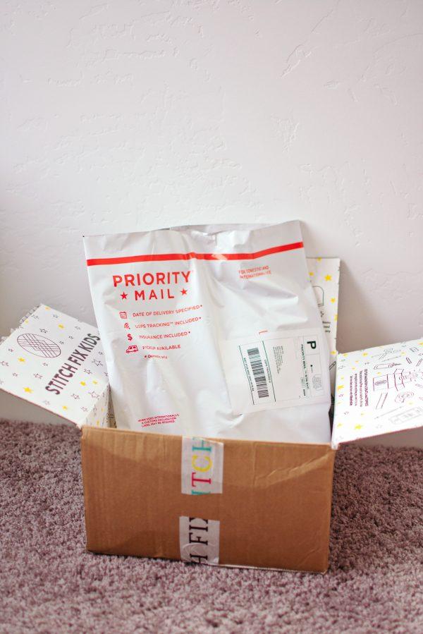 A prepaid envelope makes Stitch Fix returns easy.