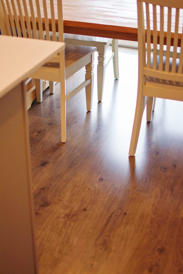 Clean laminate floors after using Bona products.