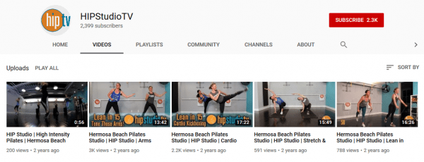 Free workout videos by HipStudioTV.
