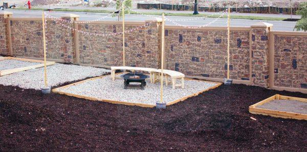 Follow this tutorial for a DIY backyard entertainment area