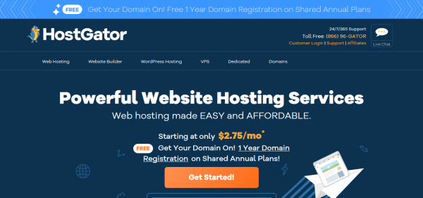 Hostgator website hosting review and pricing.