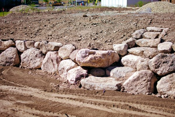 landscaping slopes with rocks