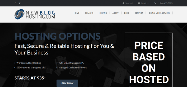 New Blog hosting review and pricing.