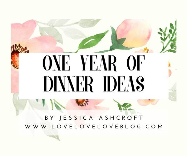 A year of dinner ideas eBook for families.
