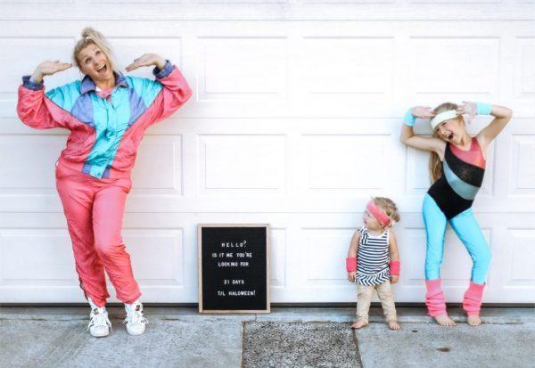 80's family Halloween costume