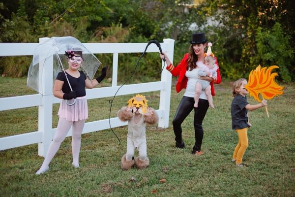 DIY family circus outfits