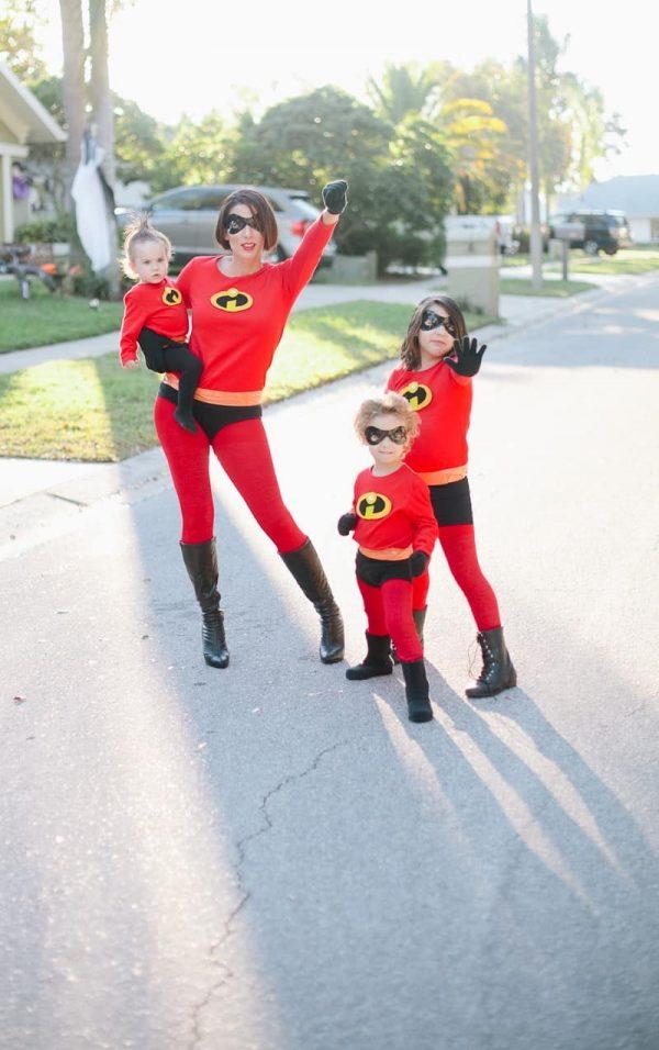 DIY Incredibles family costume idea