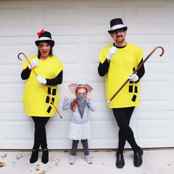 Elephant and peanuts family outfits for Halloween