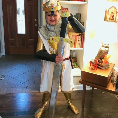 Kids King Arthur Halloween costume