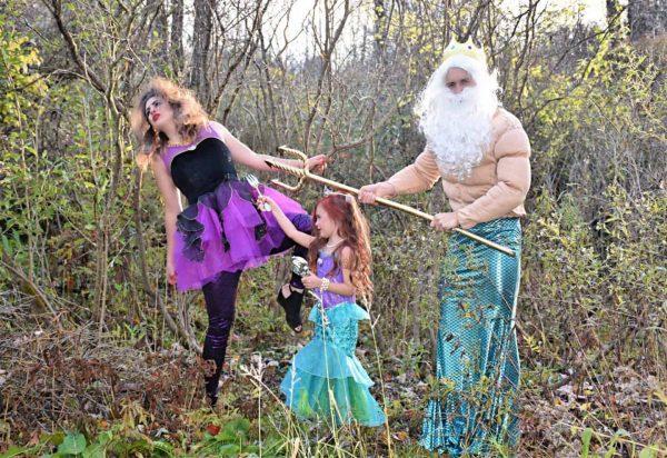 Little Mermaid family costume.