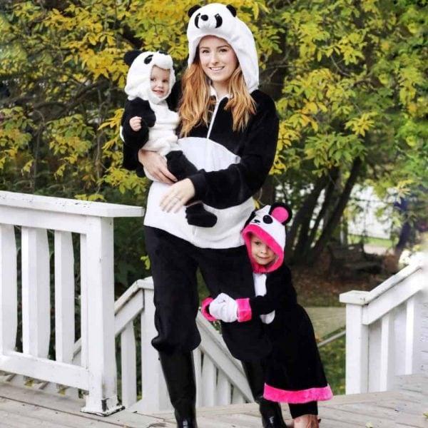 Panda family Halloween costume idea