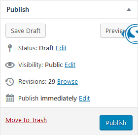 How to publish a post in WordPress.