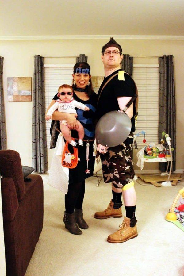 Super hero family costume idea.