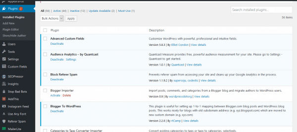 How to find WordPress plugins.