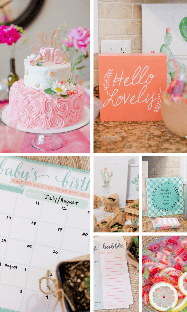 Girly baby shower themes for new moms.
