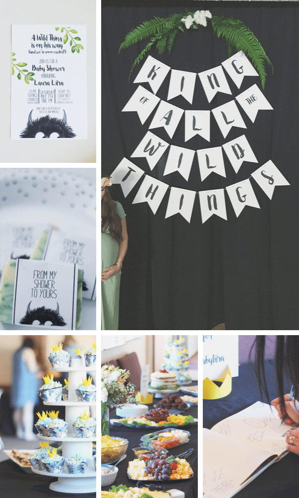 Modern Where the Wild Things Are Baby Shower Theme