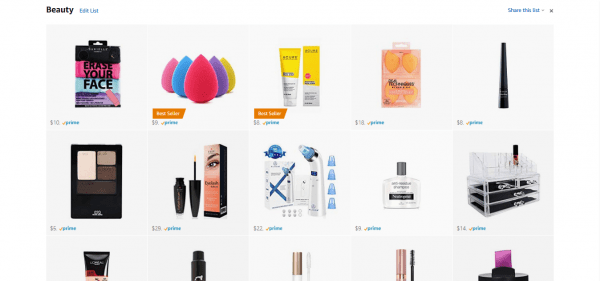 A list of the best beauty Amazon products to buy.