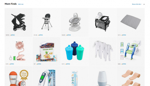 A list of some of the great mom Amazon products to buy.