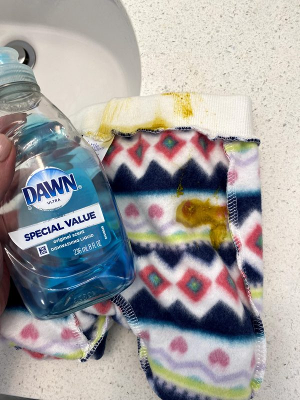 Dawn dishsoap is the best baby stain remover.