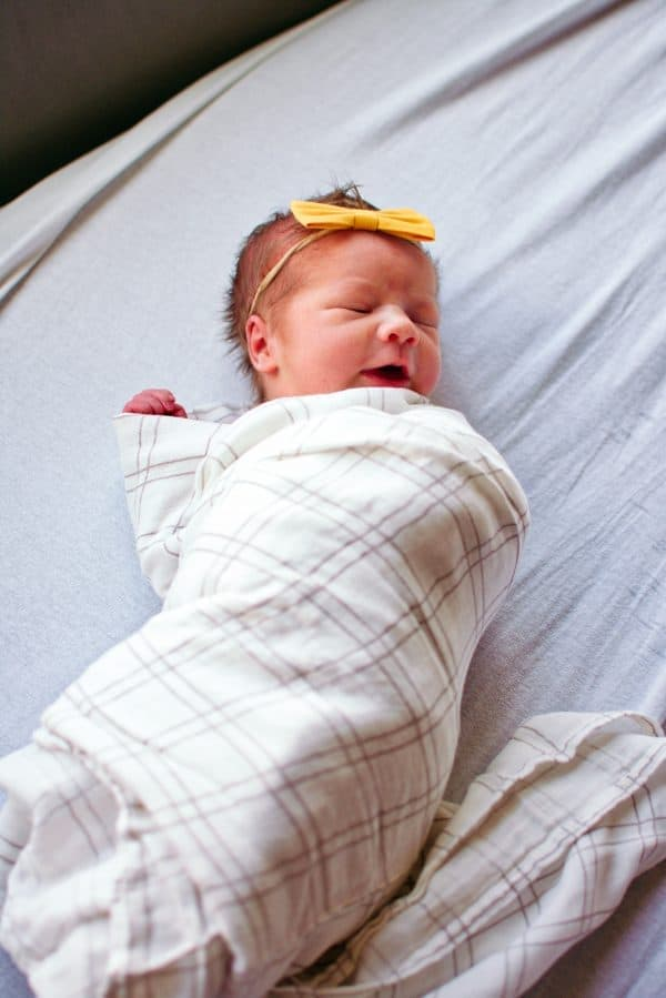 Newborn girl with name from uncommon baby names list.
