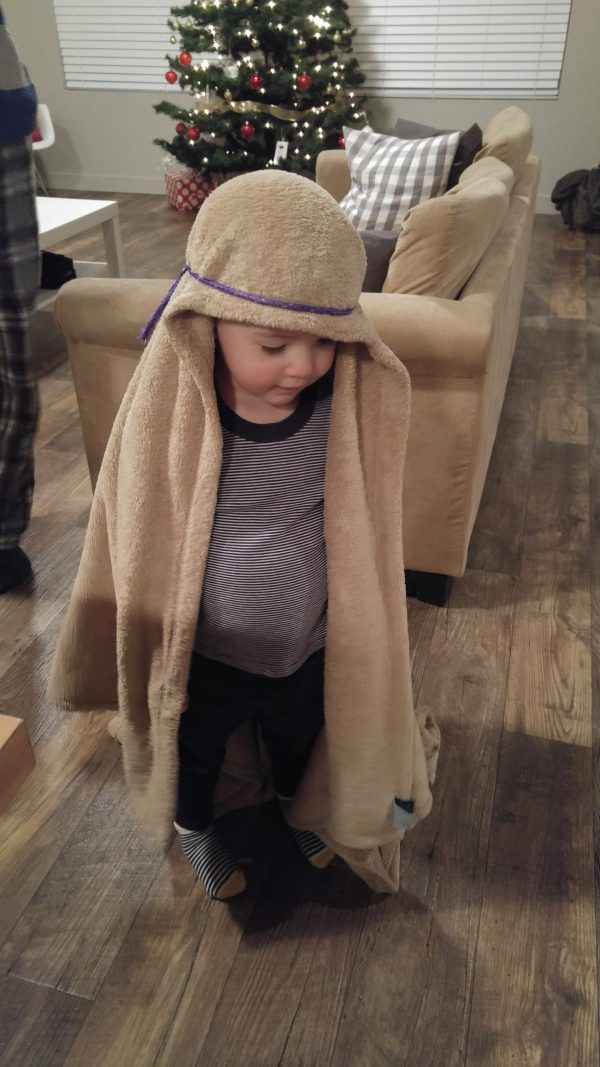 Acting out the nativity is a fun family Christmas tradition.