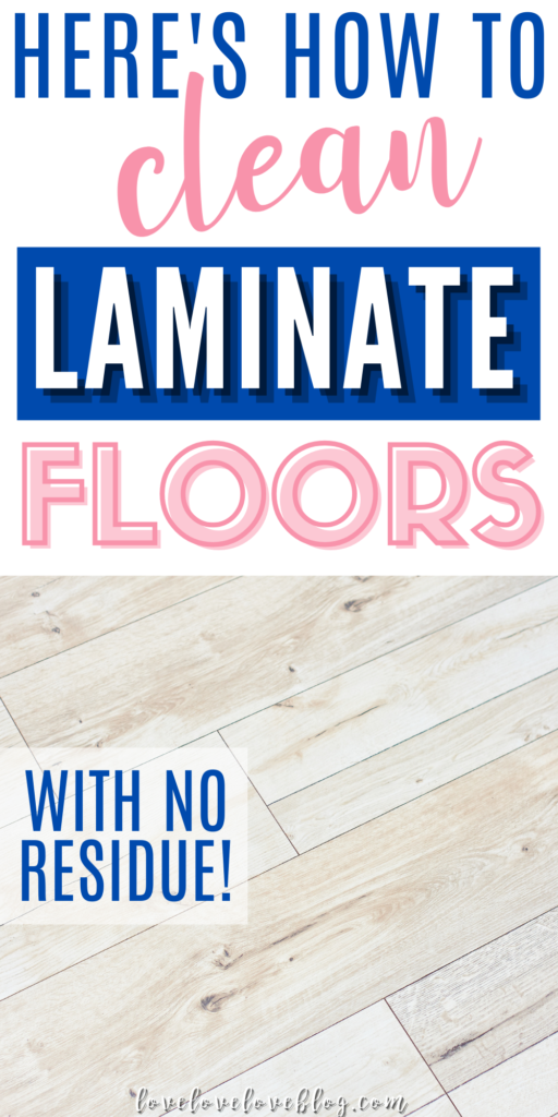 This is the best way to clean laminate floors without streaks!