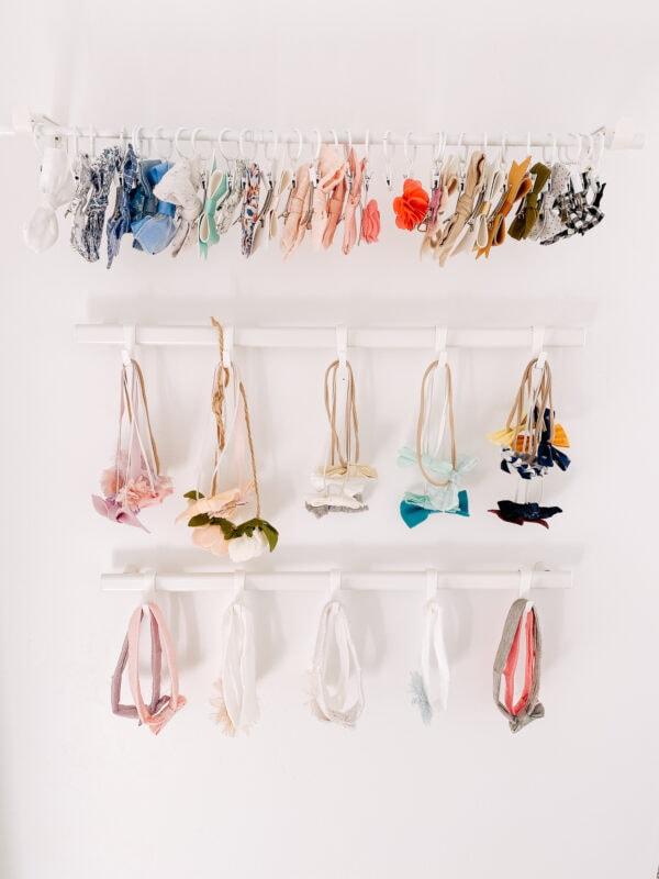 DIY bow organizer