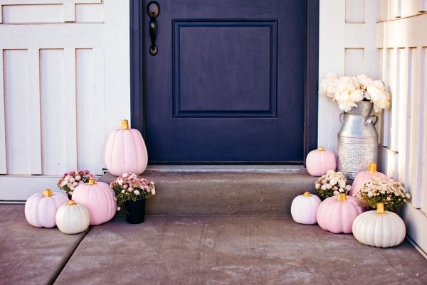 Pink and White Pumpkins are Easy DIY Projects for Fall