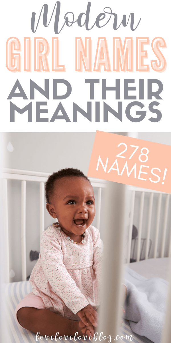 Here are 278 pretty baby girl names with meaning!