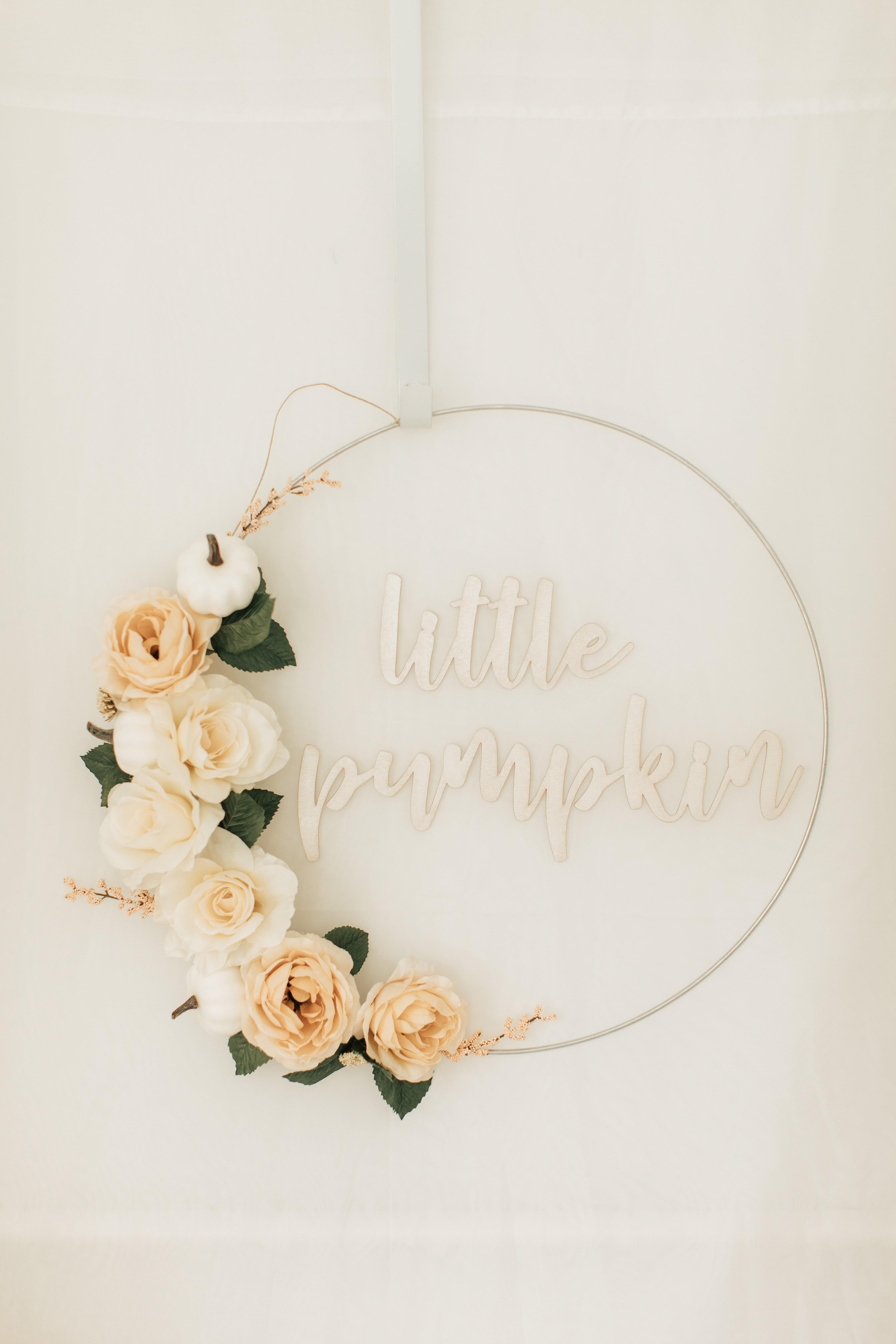Little pumpkin hoop sign
