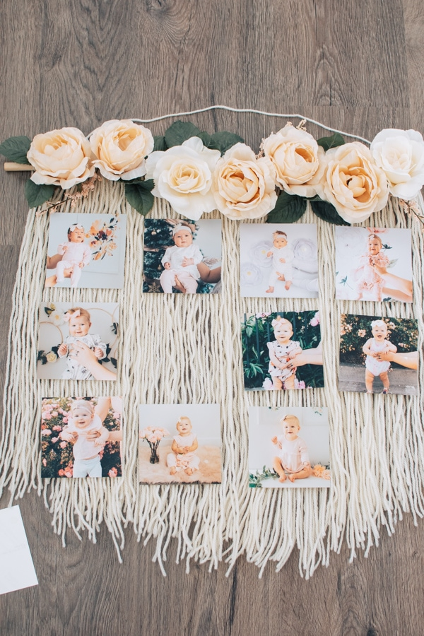 How to make a monthly picture display.