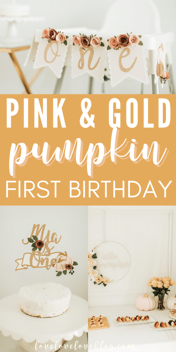 Plan the perfect baby girl first birthday party with this pumpkin theme!