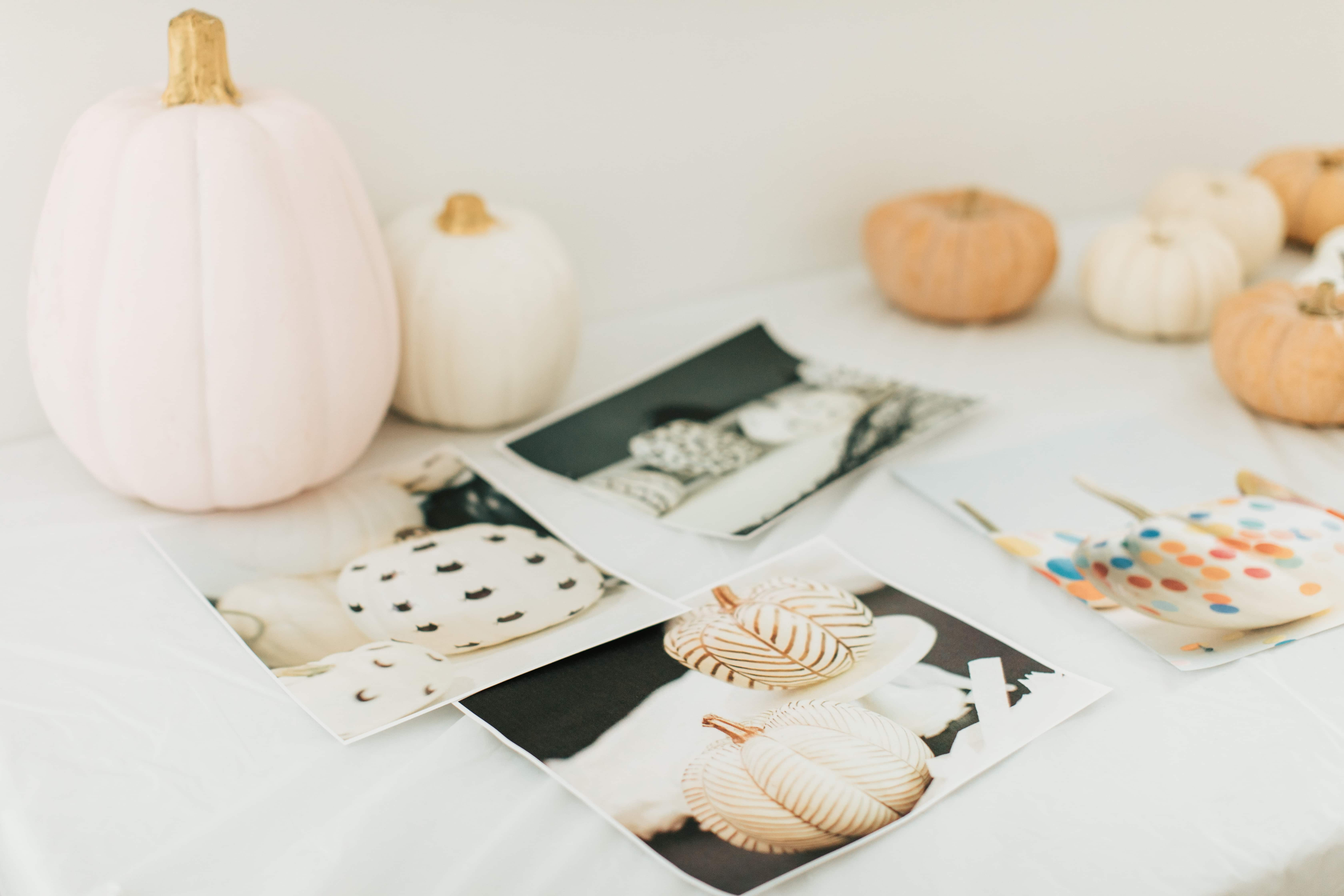 Pumpkin decorating birthday activity