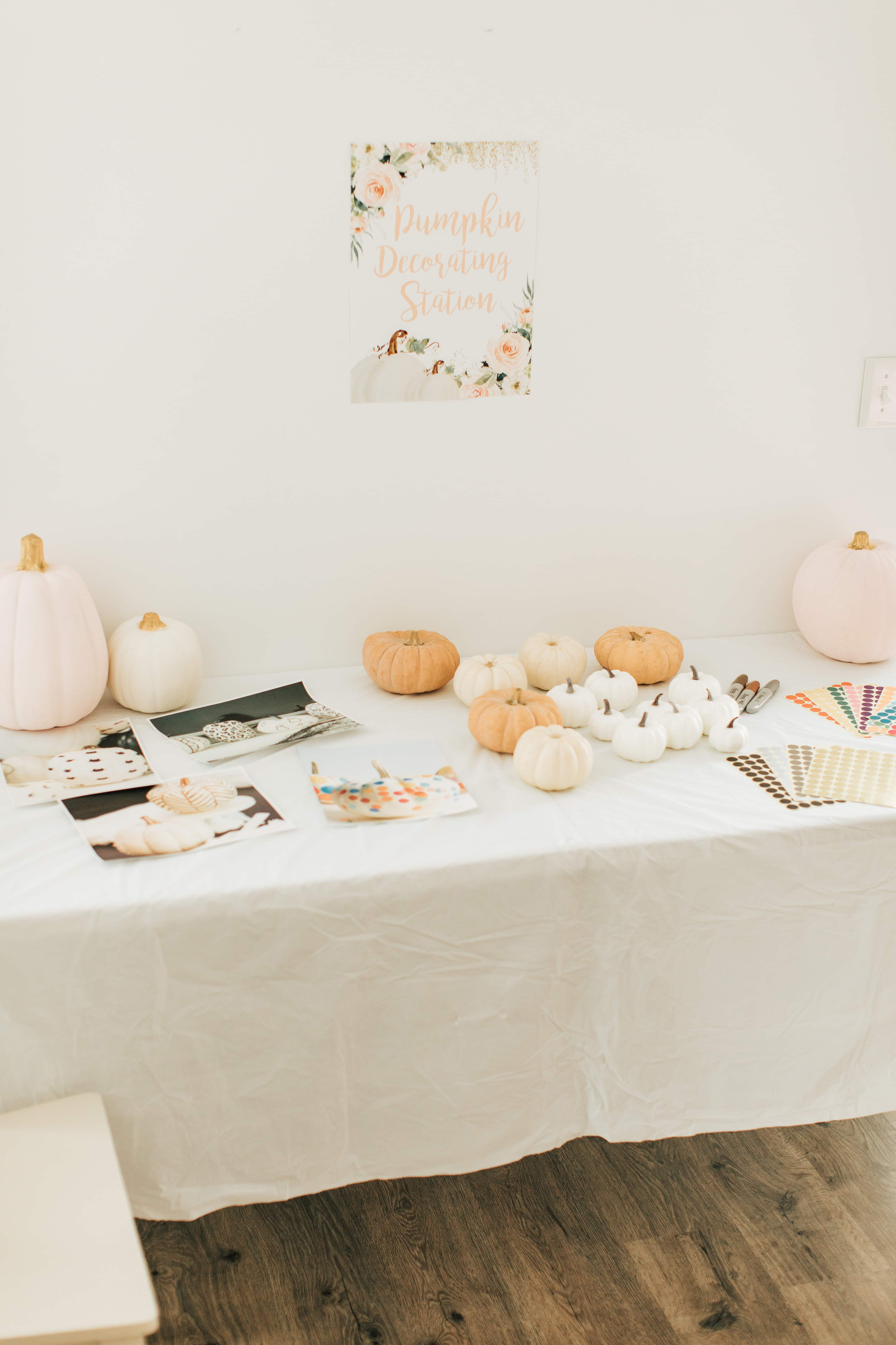 Pumpkin first birthday party table