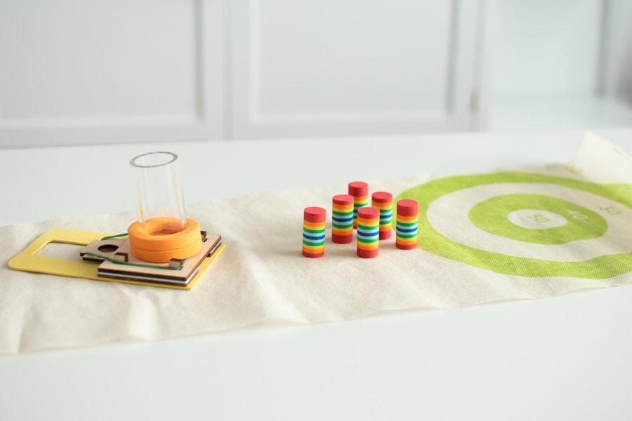 Stem toys on a table.