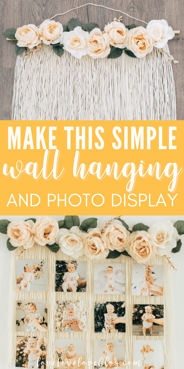 Make a DIY yarn wall hanging with this simple tutorial!