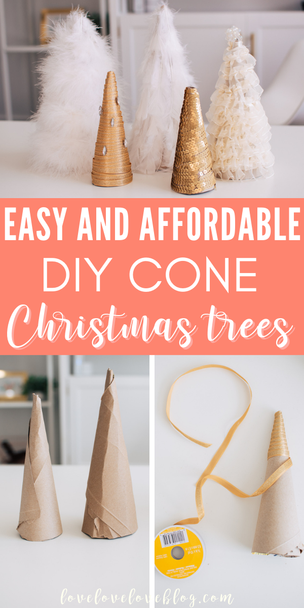 Here's how to make easy DIY cone Christmas trees.