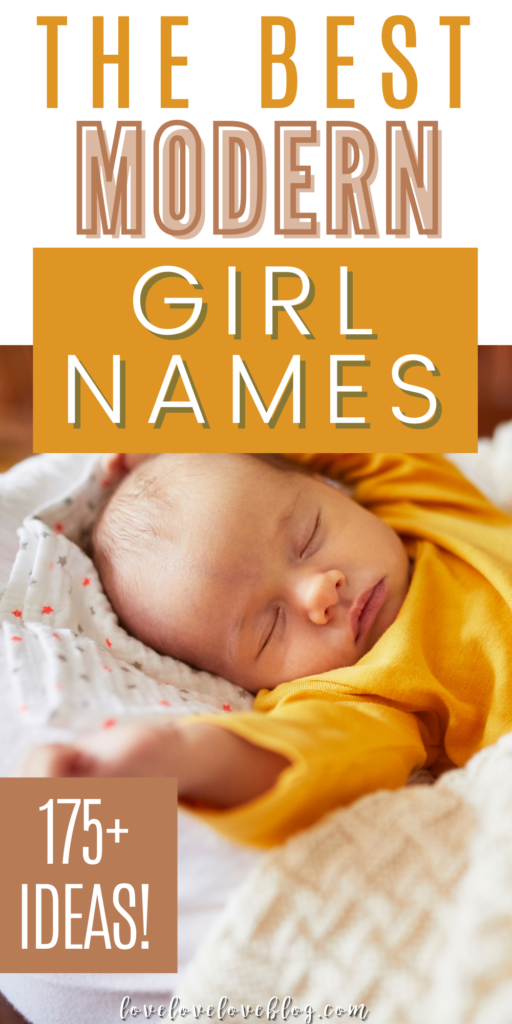 A pin image with text and a baby girl sleeping in a yellow shirt.