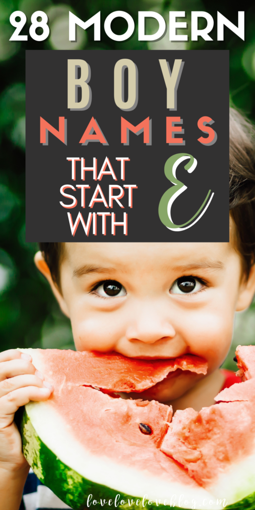 Pinterest graphic with text and little boy eating watermelon outside.