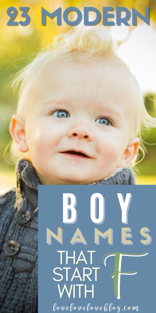 Pinterest graphic with text and little boy in blue knit sweater.