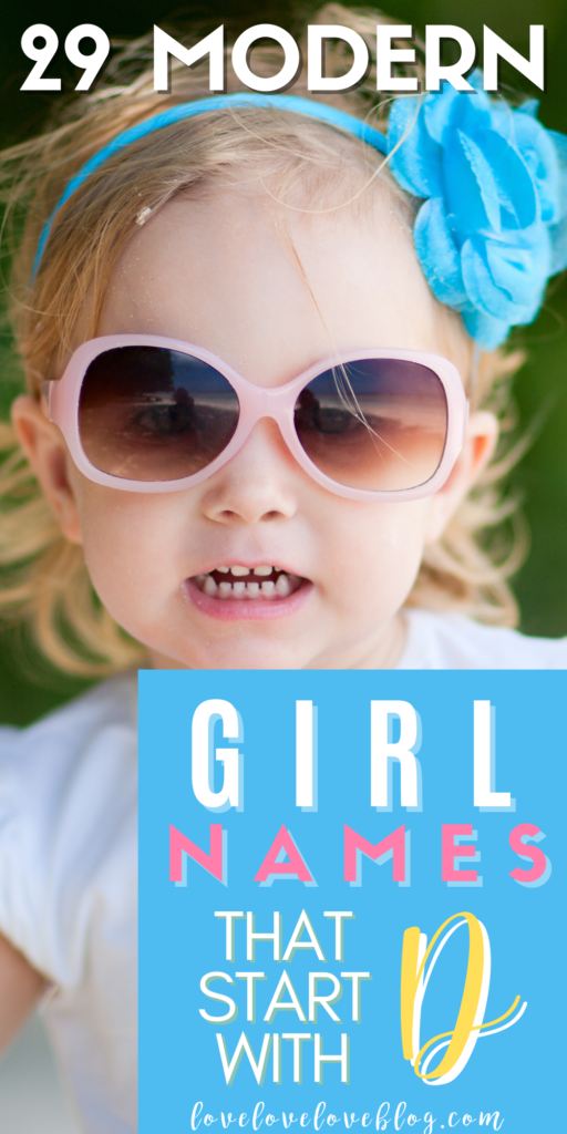 Pinterest graphic with text and toddler girl with blue hair bow and pink sunglasses.