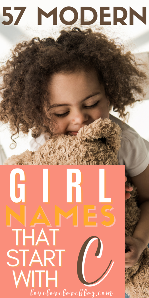Pinterest graphic with text and little girl holding teddy bear.